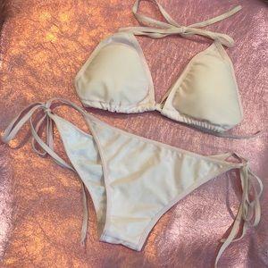 Soft Pink Triangle Bikini - Size S - NWOT